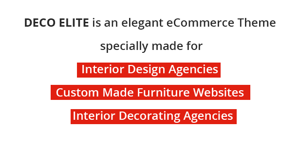 Deco Elite - Interior Design eCommerce Theme