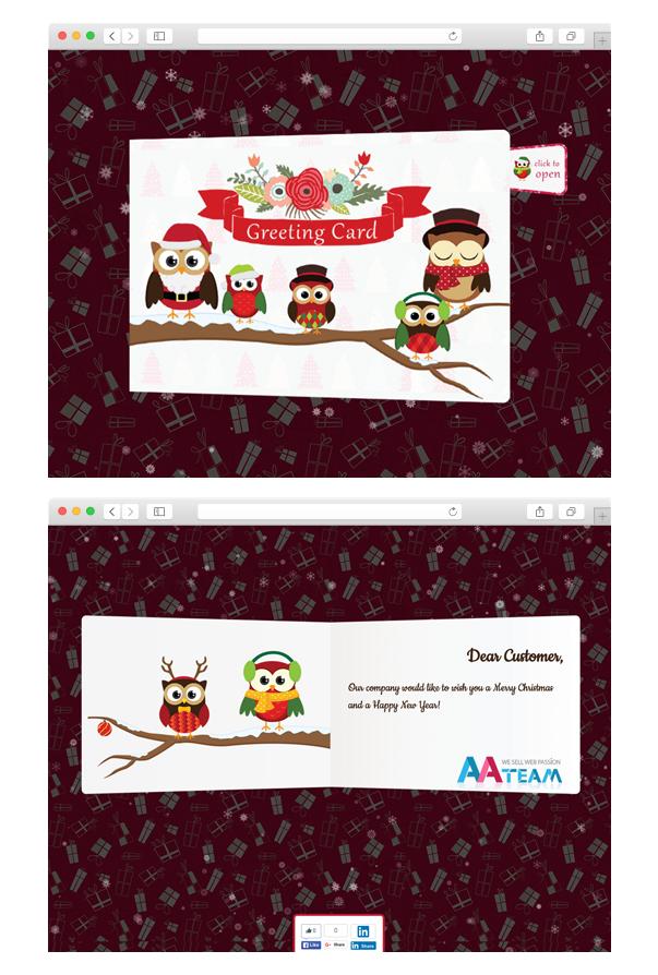 Business Christmas Greeting Card - WP Plugin - 2