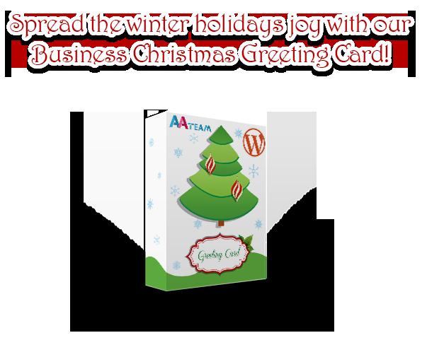 Business Christmas Greeting Card - WP Plugin - 1