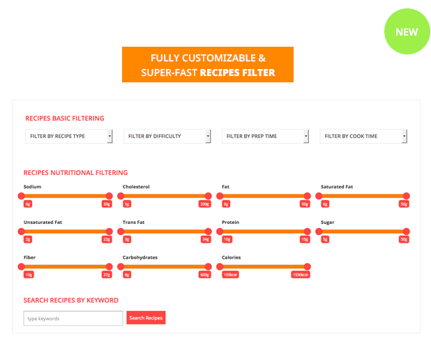 Le Chef - Premium Recipe Plugin - 7 Le Chef – Premium Recipe Plugin Nulled Free Download filter