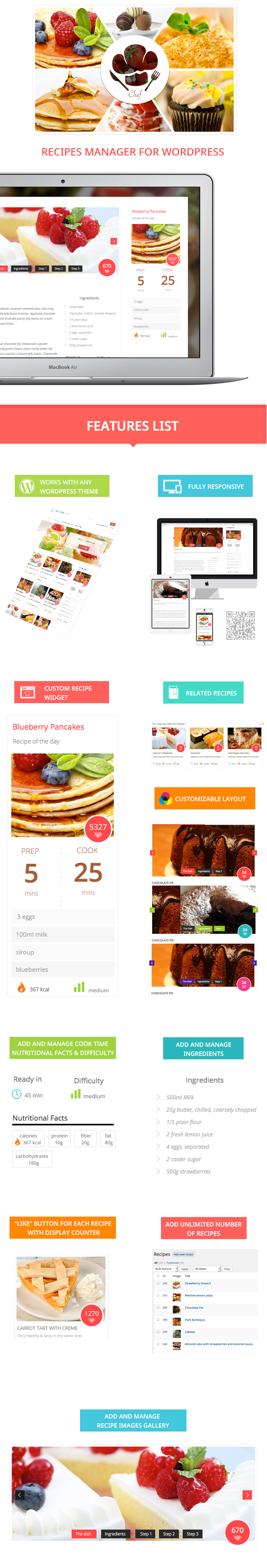 Le Chef - Premium Recipe Plugin Download