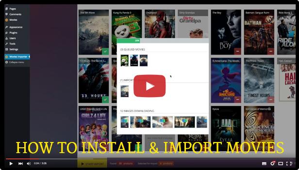 Wordpress Movies Bulk Importer - 3