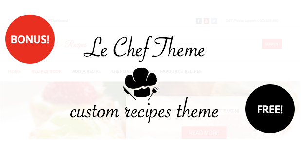 Le Chef - Premium Recipe Plugin - 10 Le Chef - Premium Recipe Plugin - bonus - Le Chef – Premium Recipe Plugin