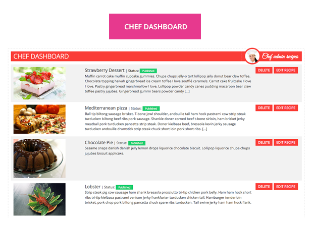 Le Chef - Premium Recipe Plugin - 13 Le Chef - Premium Recipe Plugin - dashboard - Le Chef – Premium Recipe Plugin