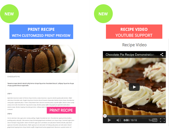 Le Chef - Premium Recipe Plugin - 8 Le Chef - Premium Recipe Plugin - printvideo - Le Chef – Premium Recipe Plugin