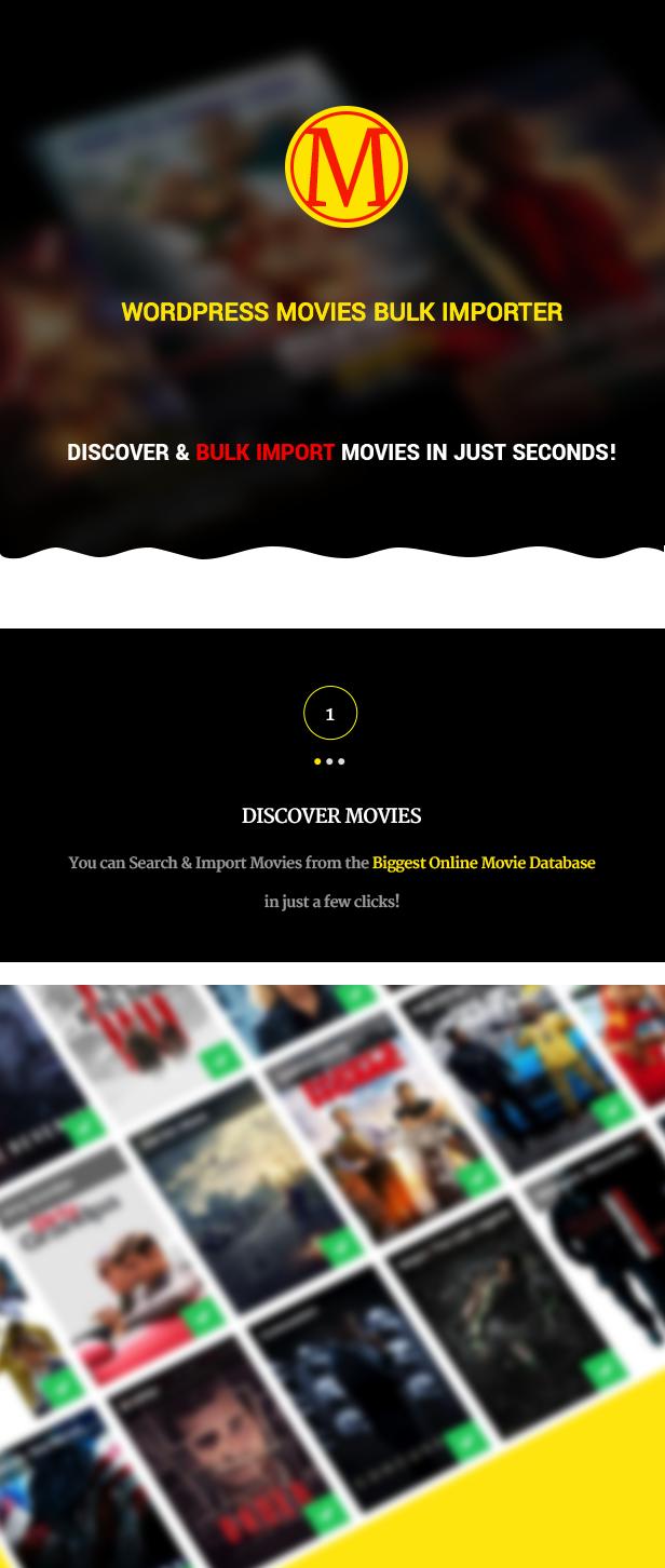 Wordpress Movies Bulk Importer - 4 Wordpress Movies Bulk Importer - discovermovies - Wordpress Movies Bulk Importer