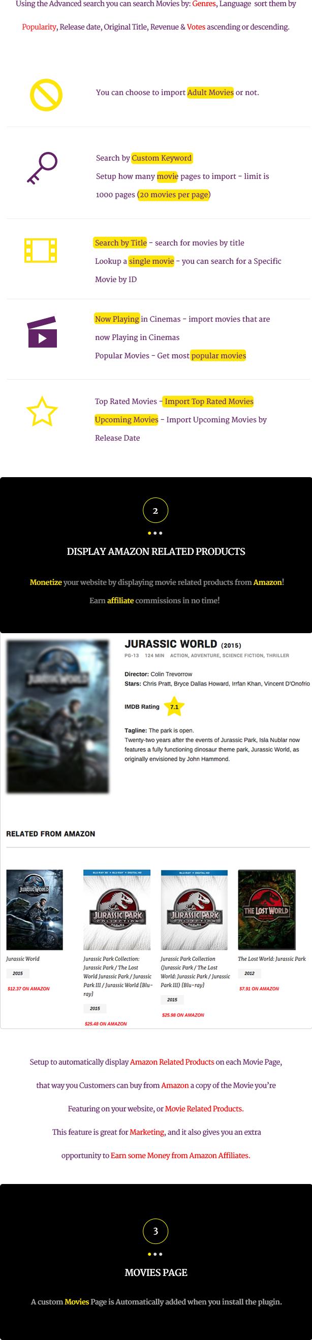 Wordpress Movies Bulk Importer - 6 Wordpress Movies Bulk Importer - displayamazon - Wordpress Movies Bulk Importer