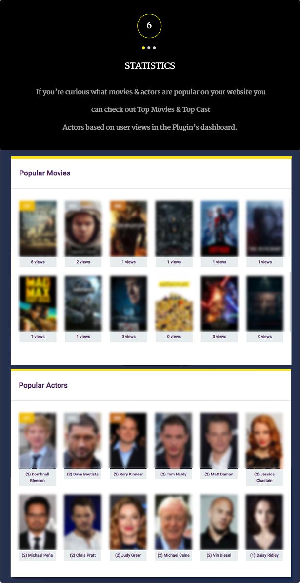Wordpress Movies Bulk Importer - 9 Wordpress Movies Bulk Importer - statistics - Wordpress Movies Bulk Importer