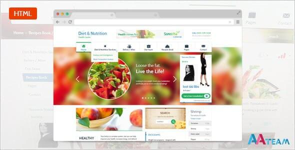 Diet & Nutrition Health Center – Responsive HTML5