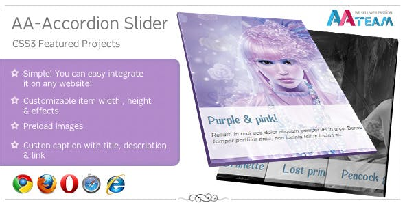 AA-Accordion Slider – CSS3 Featured Projects
