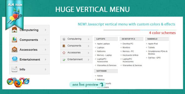 Javascript Huge Vertical Menu