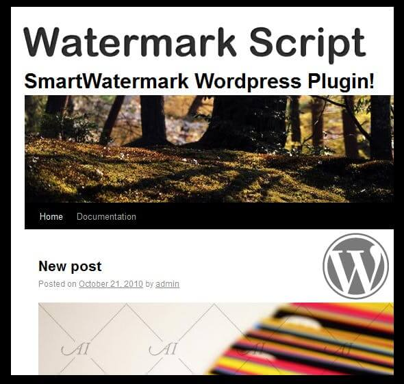 smartWatermark – wordpress plugin
