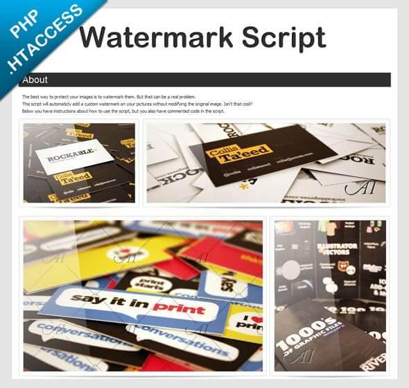 smartWatermark – php watermark script