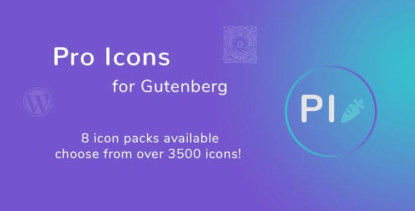 Pro Icons for Gutenberg WordPress Editor