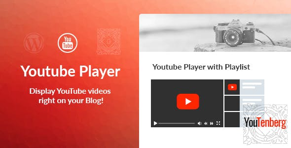 youtenberg – gutenberg youtube player with playlist
