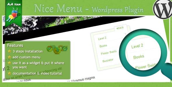 niceMenu – WordPress Plugin