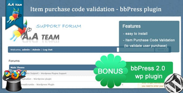Item Purchase Code Validation – bbPress Plugin